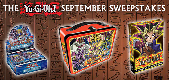 Yu-Gi-Oh! September 2017 Sweepstakes banner from YUGIOH.com