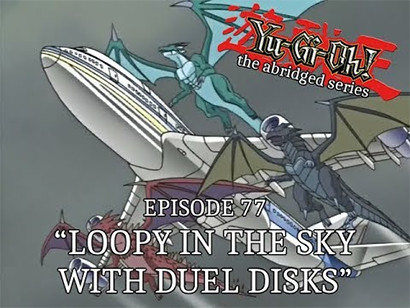 Magical dragons saving KaibaCorp airplane in YGOTAS episode 77