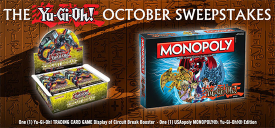 Yu-Gi-Oh! October 2017 Sweepstakes banner from YUGIOH.com