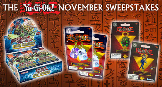Yu-Gi-Oh! November 2017 Sweepstakes banner from YUGIOH.com