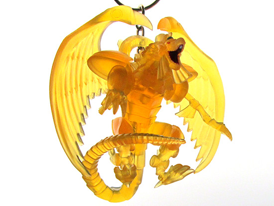 Looking up at Grin Studios' The Winged Dragon of Ra Series 2 chase figure hanger