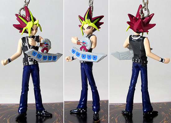 Various angles of Grin Studios' Yami Yugi figure hanger