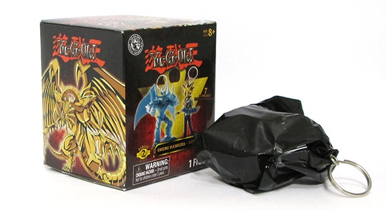 Grin Studios Yu-Gi-Oh! Figure Hangers (Series 2) box and black bag with figure inside