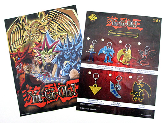 Grin Studios Yu-Gi-Oh! Figure Hangers (Series 2) mini poster and checklist