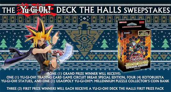 Yu-Gi-Oh! Deck the Halls December 2017 Sweepstakes banner from YUGIOH.com