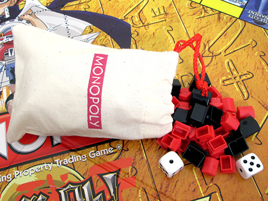 Winning Moves Yu-Gi-Oh! Monopoly cloth pouch for loose pieces