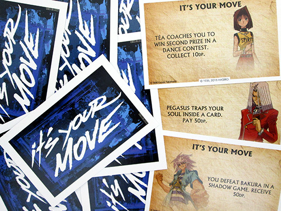 Winning Moves Yu-Gi-Oh! Monopoly It's Your Move cards