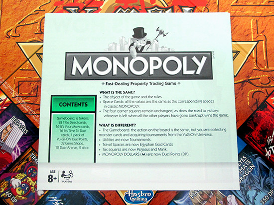 Winning Moves Yu-Gi-Oh! Monopoly rule book