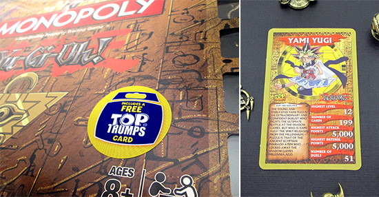 Winning Moves Yu-Gi-Oh! Monopoly includes a Yu-Gi-Oh! Top Trumps card