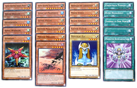 Contents of a Yu-Gi-Oh! TCG mystery pack by MJ Holding Company