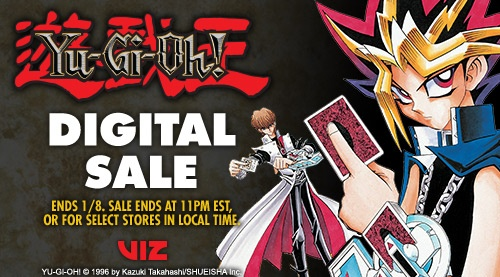 VIZ Media's Yu-Gi-Oh! digital sale January 2018 ad banner