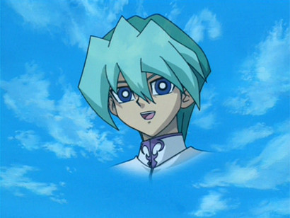 An image of Noa Kaiba in the sky in episode 143