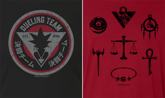 Dueling Team and Millennium Items shirt designs