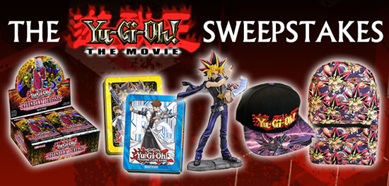 Yu-Gi-Oh! The Movie Sweepstakes banner from YUGIOH.com