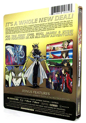 Back cover of Cinedigm's Yu-Gi-Oh! Bonds Beyond Time SteelBook