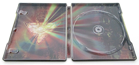 The Millennium Puzzle and hieroglyph inside Cinedigm's Yu-Gi-Oh! Bonds Beyond Time SteelBook