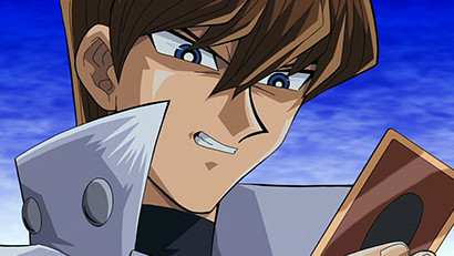 Seto Kaiba holding a card in Yu-Gi-Oh! The Movie: Pyramid of Light