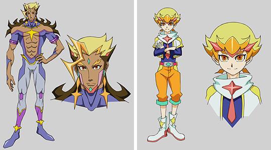 Yu-Gi-Oh! VRAINS characters Boman and Haru