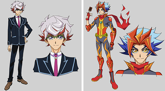 Yu-Gi-Oh! VRAINS character Takeru Homura and his avatar Soulburner