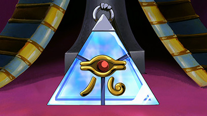 Pyramid of Light artifact on display at a museum in Yu-Gi-Oh! The Movie