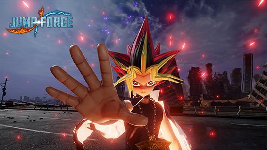 Promotional screenshot of Jump Force showing Yami Yugi