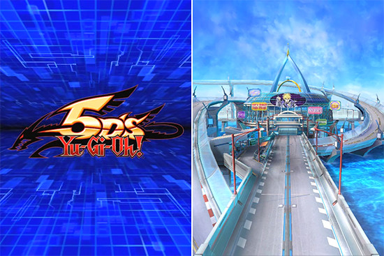 Yu-Gi-Oh! 5D's logo and Duel World (5D's) in Yu-Gi-Oh! Duel Links