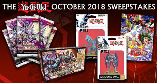 Yu-Gi-Oh! October 2018 Sweepstakes banner from YUGIOH.com