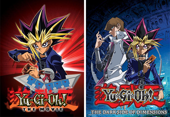 Yu-Gi-Oh! The Movie: Pyramid of Light and The Dark Side of Dimensions movie posters from Hulu