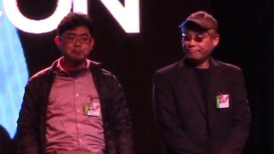 Shuji Maruyama and Junichi Hayama at Youmacon 2018 opening ceremonies