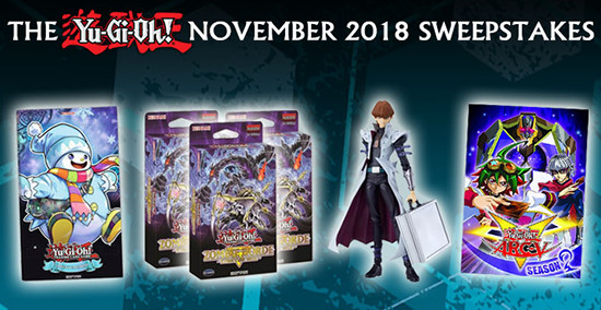 Yu-Gi-Oh! November 2018 Sweepstakes banner from YUGIOH.com