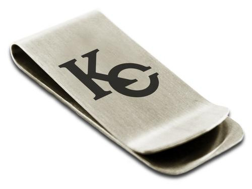 Kaiba Corporation KC logo money clip by Tioneer Jewelry