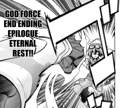 Divine Go-D/D/D Zero King Zero God Reiji's attack name in Yu-Gi-Oh! ARC-V manga chapter 42