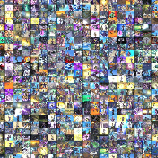Image collage featuring various screenshots from Yu-Gi-Oh! Duel Monsters that show Dark Magician's hat