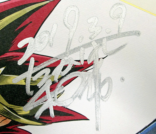 Close-up of Kazuki Takahashi's signature on his MAGIC 2019 shikishi