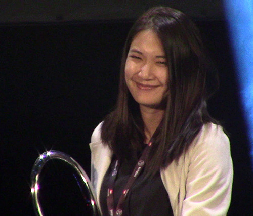 Tanatach Chokcharoensup at the MAGIC 2019 manga contest awards ceremony
