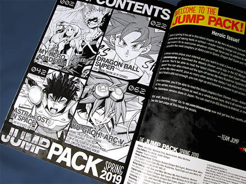 Table of Contents of the Weekly Shonen Jump Spring 2019 Jump Pack