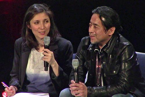 Sahé Cibot and Kazuki Takahashi at MAGIC 2019 at Takahashi's Q&A panel