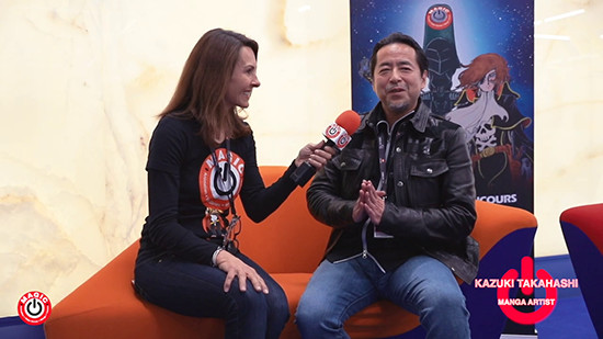 Kazuki Takahashi talking with MAGIC 2019 TV presenter Shellee Nicols
