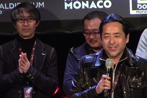 Kazuki Takahashi, Yoshihisa Heishi, and Naoki Kawashima at the MAGIC 2019 opening ceremony