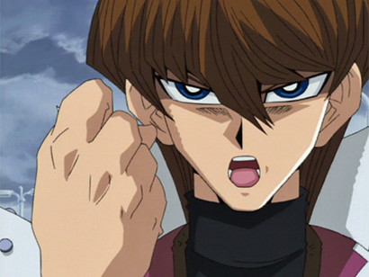 Seto Kaiba clenching his fist in episode 108
