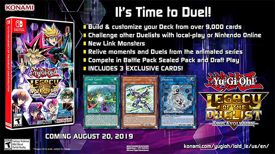 Yu-Gi-Oh! Legacy of the Duelist: Link Evolution advertisement