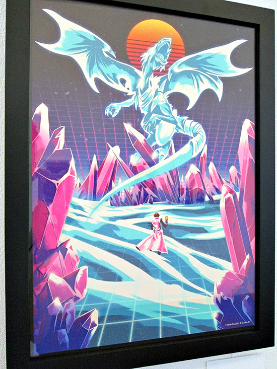Blue-Eyes White Dragon by Alexander Wells at the Gallery1988 Yu-Gi-Oh! art show