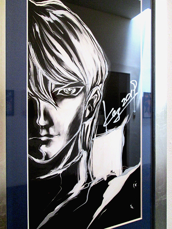 Kazuki Takahashi's new artwork of Seto Kaiba at the Gallery1988 Yu-Gi-Oh! art show