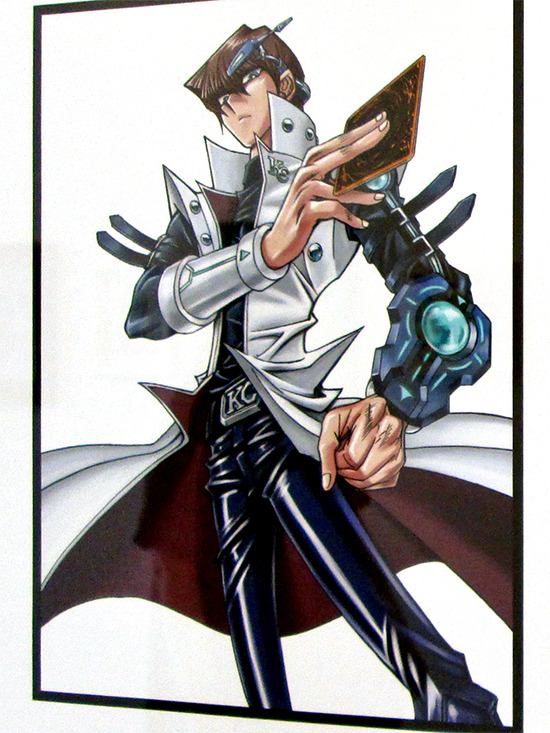 Kazuki Takahashi's V Jump illustration of Seto Kaiba at the Gallery1988 Yu-Gi-Oh! art show