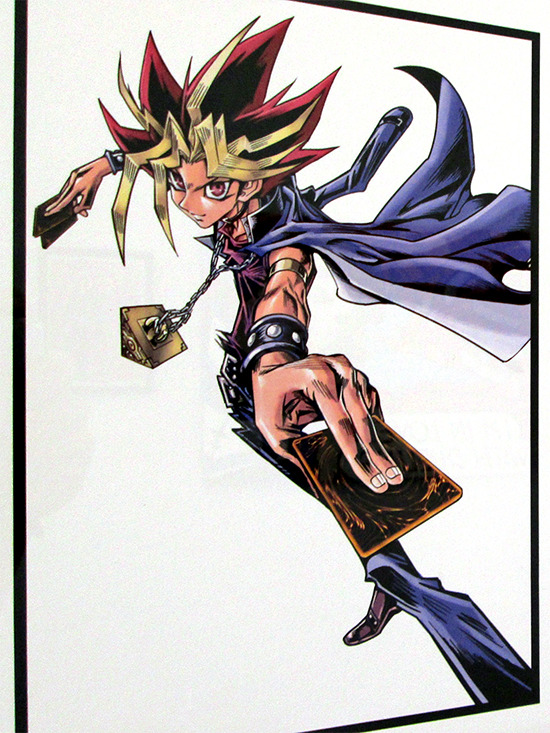 Kazuki Takahashi's V Jump Yami Yugi illustration at the Gallery1988 Yu-Gi-Oh! art show
