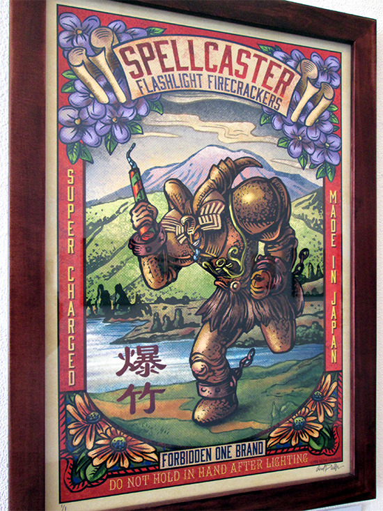 Spellcaster by Chet Phillips at the Gallery1988 Yu-Gi-Oh! art show
