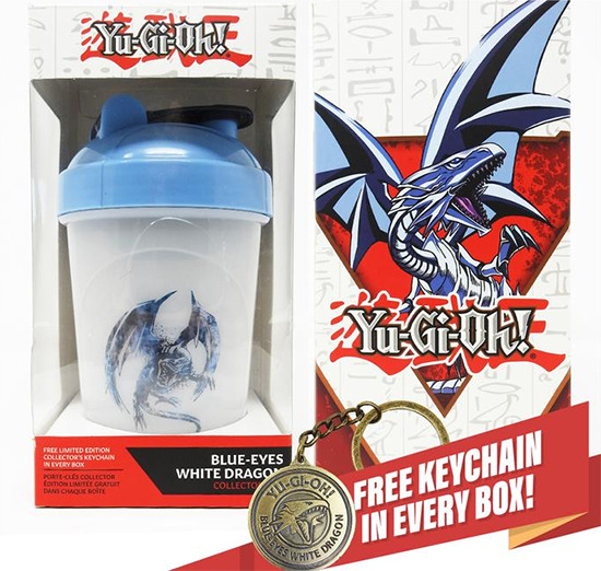 Blue-Eyes White Dragon Collector Cup and keychain
