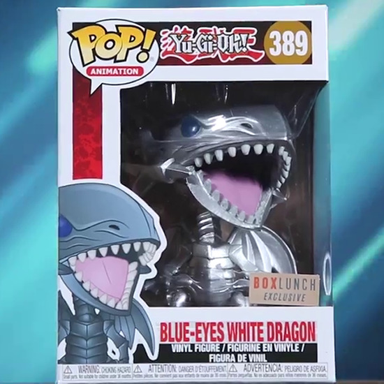 Blue-Eyes White Dragon Funko Pop! figure box, BoxLunch-exclusive edition