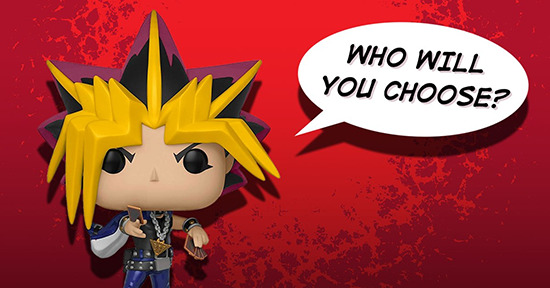 Yami Yugi Funko Pop! figure asking who you will vote for