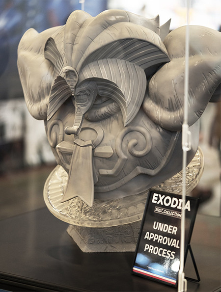 Prototype bust of Exodia the Forbidden One by Taka Corp Studio at Japan Expo 2019
